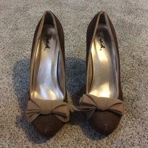 Brown Bow Heels